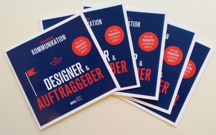 Leitfaden des BDG für erfolgreiche Kommunikation zwischen Designern & Auftraggebern