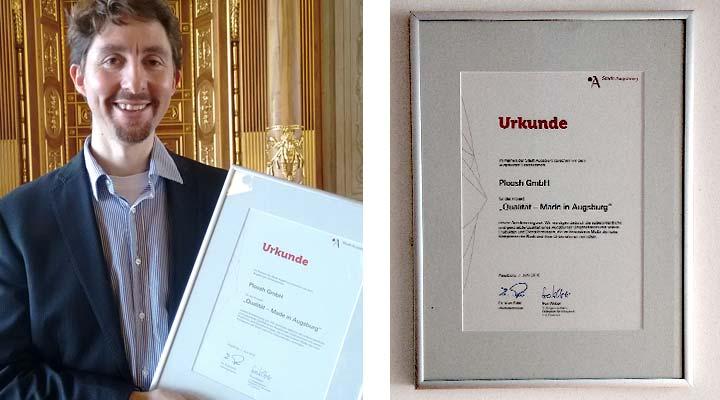 Qualität - Made in Augsburg - Preisträger mitUrkunde